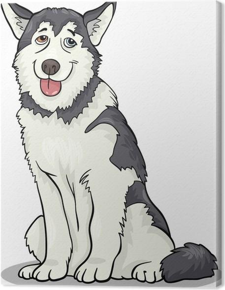 Cuadro en Lienzo Husky malamute o dibujos animados perro • Pixers ...