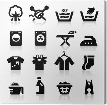 Cuadro en Lienzo Icono de lavandería