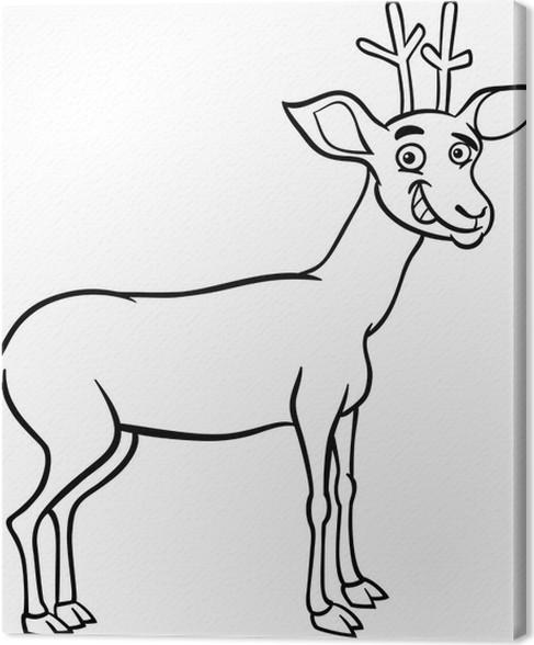 Cuadro en Lienzo Ilustración de dibujos animados ciervos para ...