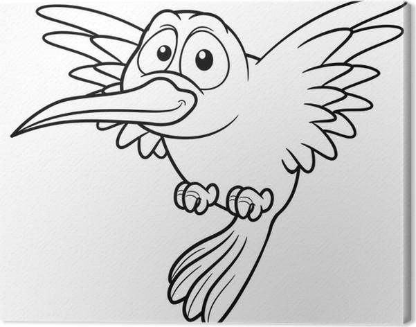 Cuadro en Lienzo Ilustración de dibujos animados del colibrí - Libro ...