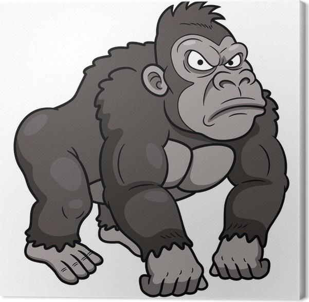 Cuadro en Lienzo Ilustración de dibujos animados Gorila • Pixers ...