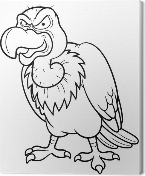 Cuadro en Lienzo Ilustración del buitre de dibujos animados - Libro ...