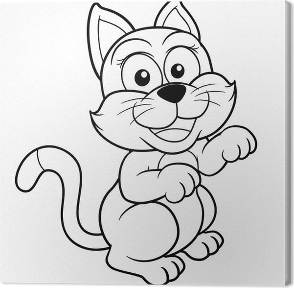 Famoso Hola Gatito Gato Para Colorear Adorno - Ideas Para Colorear ...