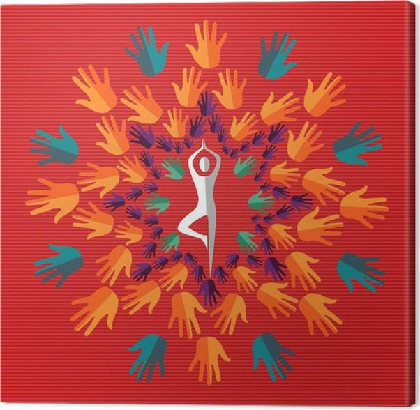 Cuadro en Lienzo India yoga mandala humano • Pixers® - Vivimos para ...