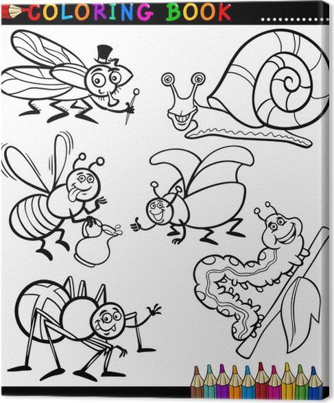 Cuadro en Lienzo Insectos y bichos para Coloring Book • Pixers ...