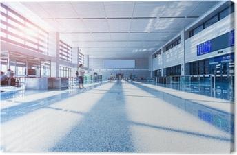 Cuadro en Lienzo Interior de la estación de tren de alta velocidad en China