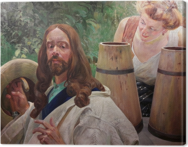 Cuadro en Lienzo Jacek Malczewski - Cristo y la mujer Samaritana - Reproductions