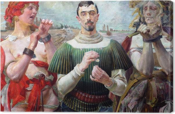Cuadro en Lienzo Jacek Malczewski - El Hamlet polaco - Reproductions