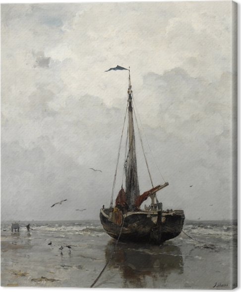 Cuadro en Lienzo Jacob Maris - Barca de pesca - Reproductions