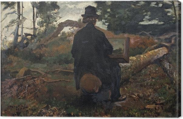 Cuadro en Lienzo Jacob Maris - El pintor Frederik Hendrik Kaemmerer trabajando en Oosterbeek - Reproductions