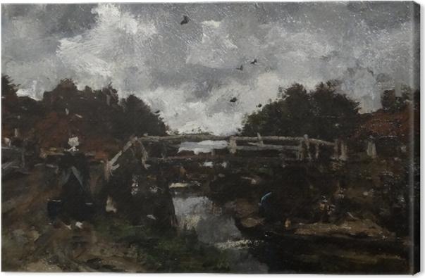 Cuadro en Lienzo Jacob Maris - Puente de madera - Reproductions