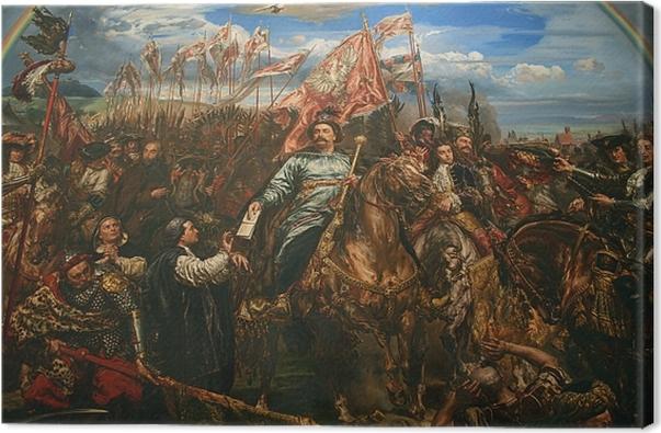 Cuadro en Lienzo Jan Matejko - Juan III Sobieski enviando el mensaje de la victoria al Papa tras la Batalla de Vienna (detalle) -