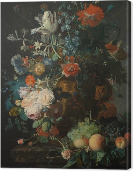 Cuadro en Lienzo Jan van Huysum - Still life with flowers - Reproducciones