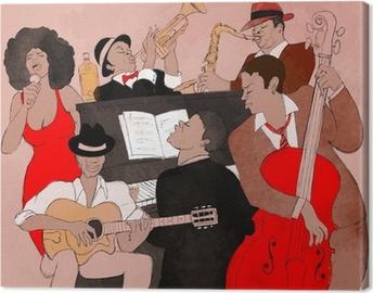 Cuadro en Lienzo Jazz band