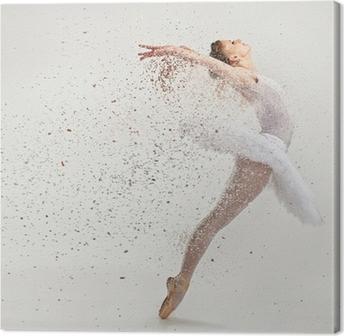 Cuadro en Lienzo Joven bailarina bailarina en tutú realizar en pointes