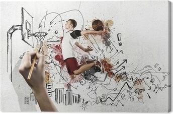 Cuadro en Lienzo Jugador de baloncesto