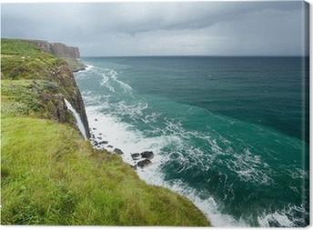 Cuadro en Lienzo Kilt Rock Marina, Isla de Skye, Escocia