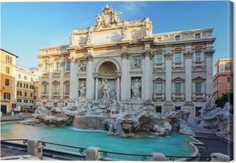 Cuadro en Lienzo La Fontana de Trevi. Roma, Italia.