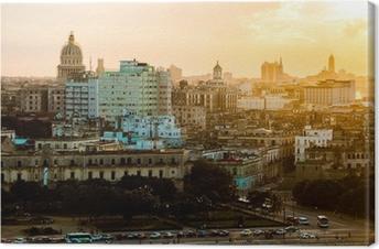 Cuadro en Lienzo La Habana (Habana) en la puesta del sol, Cuba