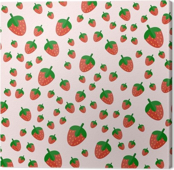 Cuadro en Lienzo Las frutas frescas de la fresa de la historieta en ...