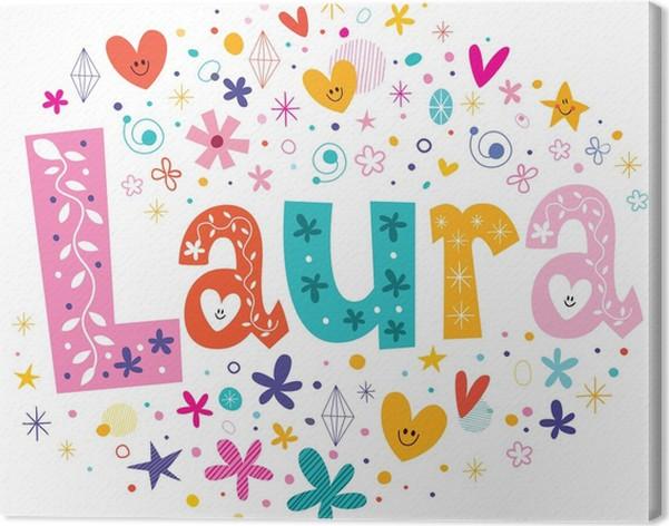Cuadro en Lienzo Laura nombre de las niñas diseño de tipo letras ...
