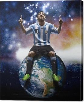 Cuadro en Lienzo Leo Messi