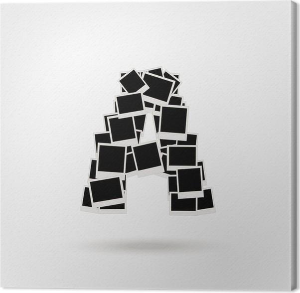 Cuadro en Lienzo Letra A hecha de marcos de fotos, insertar las ...