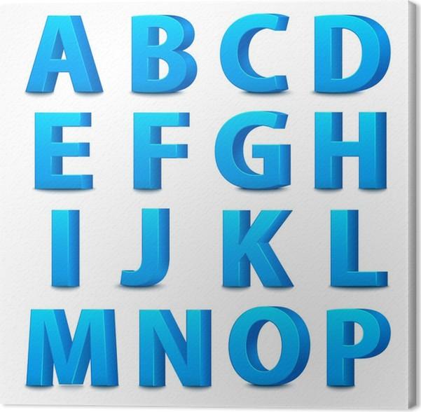 Cuadro en Lienzo Letras azules grandes de pie. • Pixers® - Vivimos ...