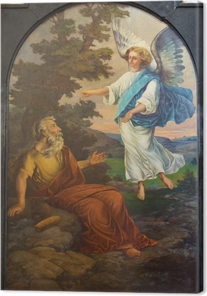 Cuadro en Lienzo Leuven - Pintura de profeta Elías iglesia forma St ...