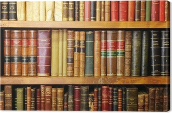 Cuadro en Lienzo Libros antiguos, librería, biblioteca