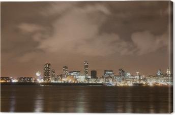 Cuadro en Lienzo Liverpool artificiales Panorama en la víspera de Año Nuevo