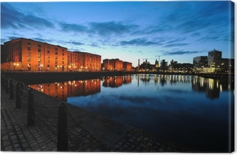 Cuadro en Lienzo Liverpool horizonte de la noche
