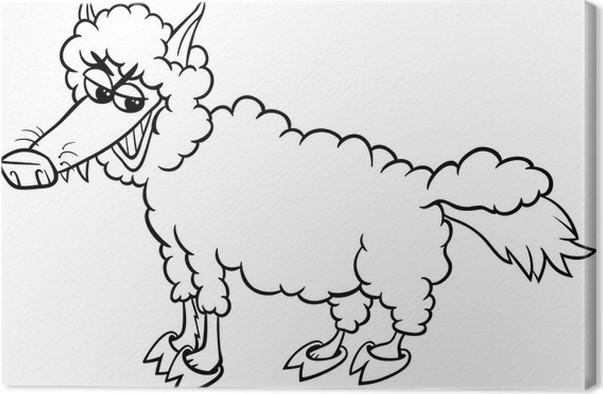 Cuadro en Lienzo Lobo en página para colorear la ropa • Pixers ...