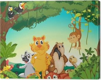 Cuadro en Lienzo Los animales del bosque