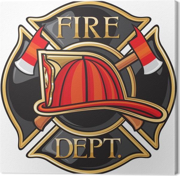 Cuadro en Lienzo Los bomberos del Departamento de Bomberos o del ...