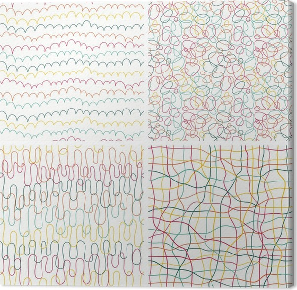 Cuadro en Lienzo Los patrones de la mano abstracta elaborado sin ...