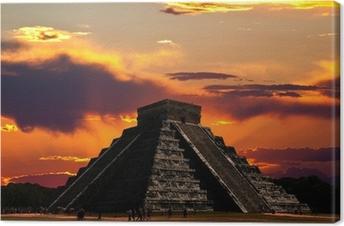 Cuadro en Lienzo Los templos de Chichén Itzá templo en Mexico