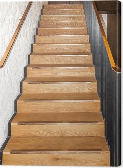 Cuadro en lienzo madera de roble escaleras rectas pixers - Cuadros para escaleras ...
