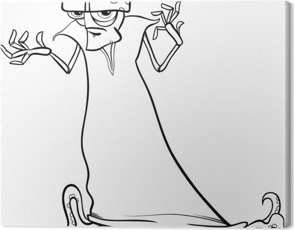 Cuadro en Lienzo Mal para colorear de dibujos animados extranjero ...