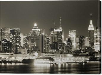 Cuadro en Lienzo Manhattan West lado por la noche