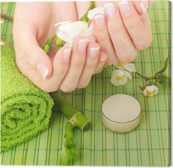 Cuadro en Lienzo Manicure - spa manos, salón de belleza • Pixers ...