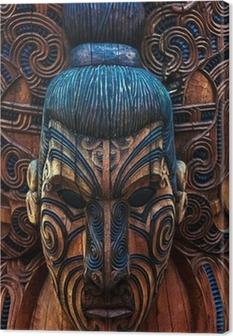 Cuadro en Lienzo Maorí Totem