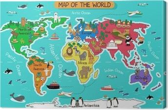 Cuadro en Lienzo Map of the world