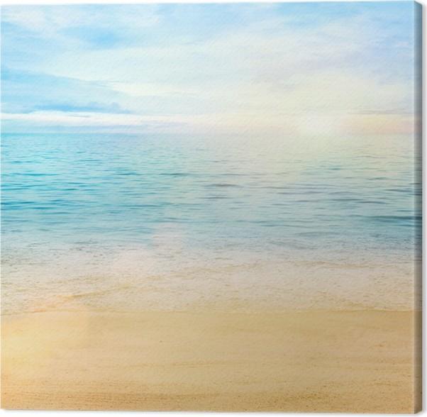 Cuadro en Lienzo Mar y arena de fondo • Pixers® - Vivimos para cambiar