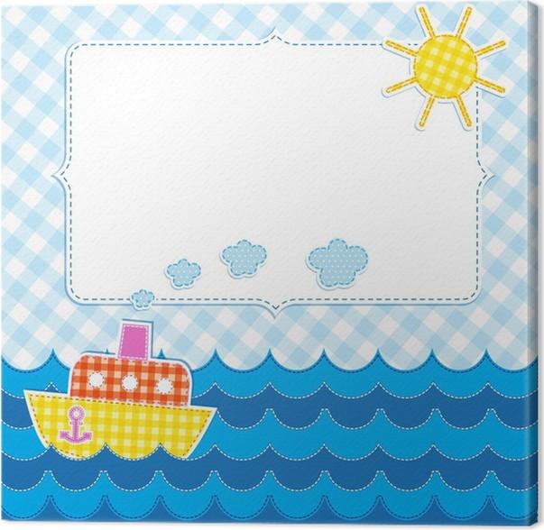Cuadro en Lienzo Marco con el barco de dibujos animados • Pixers ...