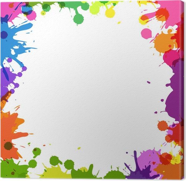 Cuadro en lienzo marco con manchas de color pixers for Marcos para lienzos
