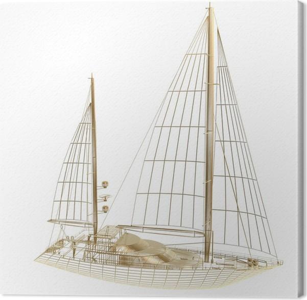 Cuadro en Lienzo Marco de barco de vela • Pixers® - Vivimos para cambiar