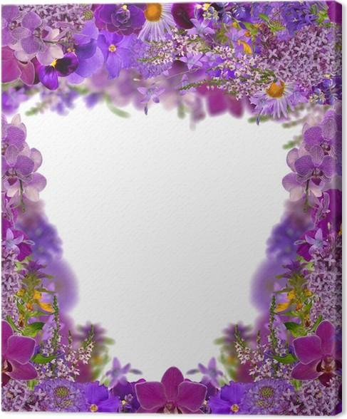 Cuadro en Lienzo Marco de color lila de las flores • Pixers ...
