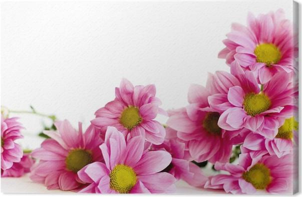 Cuadro en Lienzo Marco de las flores • Pixers® - Vivimos para cambiar
