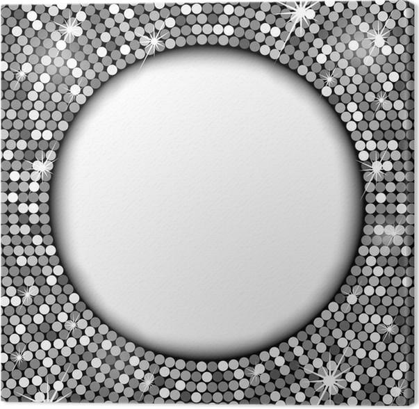 Cuadro en Lienzo Marco de plata con espacio para el texto • Pixers ...